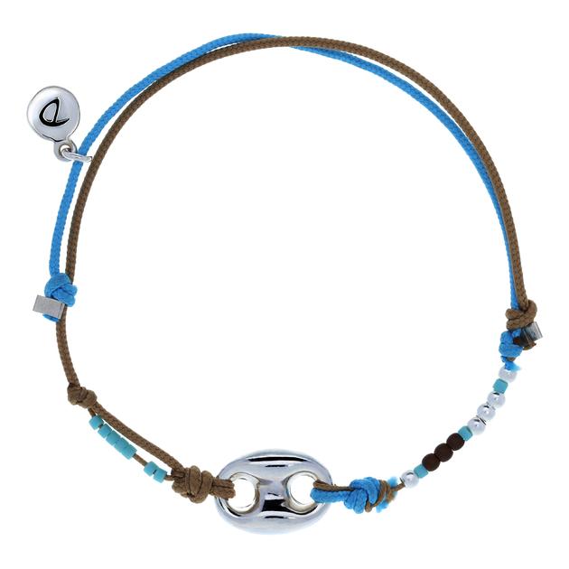 bracelet homme graine de cafe beige bleu bracelets homme doriane bijoux. Black Bedroom Furniture Sets. Home Design Ideas