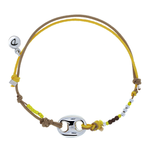 Bracelet homme graine de cafe beige jaune bracelets - Chaine graine de cafe or homme ...