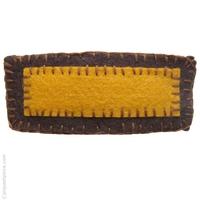 barrette cheveux feutrine jaune et brun copie