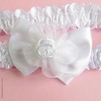 bandeau enfant blanc noeud et fleur