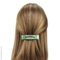 barrette à cheveux  verte