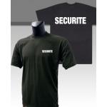 Tee-Shirt Noir imprimé SECURITE