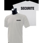 Tee-Shirt Blanc imprimé SECURITE