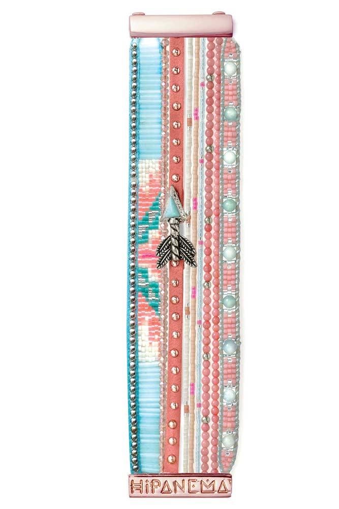 vente hipanema t 2016 bracelet manchette bresilienne rose reef. Black Bedroom Furniture Sets. Home Design Ideas