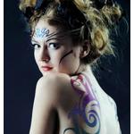 Kit de tatouages temporaires (13 stylos + 12 pochoirs)