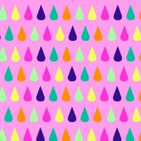 Jersey Fabric Addict Gouttes fond rose 20 x 160 cm