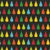 Jersey Fabric Addict Gouttes fond noir 20 x 160 cm
