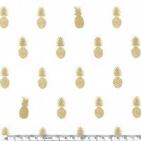 A nana's fabric, voile de polycoton blanc, 20 x 140 cm
