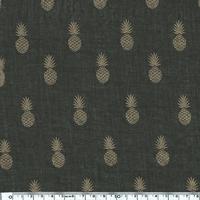 A nana's fabric, voile de polycoton chocolat, 20 x 140 cm