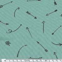 Comme une flèche, poly/coton menthe glacée 20 x 140 cm