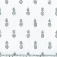 A nana's fabric Silver, poly/coton chantilly 20 x 140 cm
