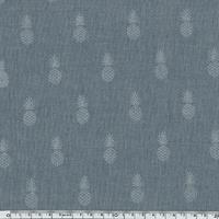 A nana's fabric Silver, chambray gris bleu 20 x 140 cm