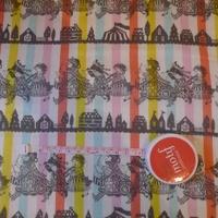 DERNIER COUPON Tissu Marie-Antoinette fond couleur 1m x110 cm