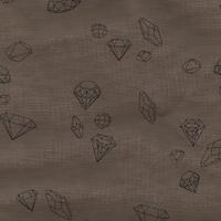 Coupon de poly/coton Ma rivière de diamants noix, 1m50 x 140 cm