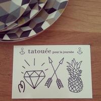 """Planche de tatouages """"Tatouée pour la journée"""""""