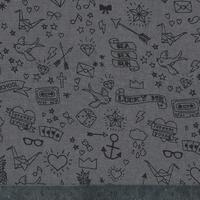 Tatouée pour la journée, Tencel gris 20 x 140 cm