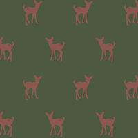 Jersey Faon fond vert 20 x 140 cm