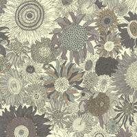 Liberty Small Suzanna gris taupe coloris F 20 x 137 cm