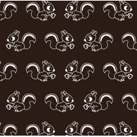 Jersey Fabric Addict Ecureuils fond marron foncé 20 x 160 cm