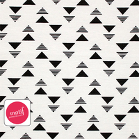 Jersey triangles flèches 20 x 140 cm